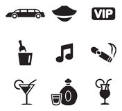 Limousine Icons Royalty Free Stock Photography