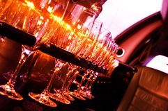 Limousine interior Royalty Free Stock Images