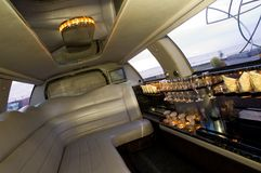 Limousine interior Stock Image