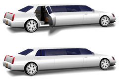 Limousine Limo Doors Open & Closed Royalty Free Stock Photos