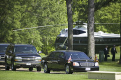 Limousine présidentielle noire Images stock
