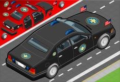 Limousine presidenziali isometriche nella retrovisione Fotografia Stock