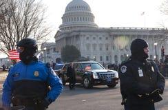 Limousine présidentielle et capitol des États-Unis Images stock