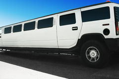 Limousine on the road Stock Images