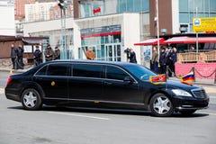 Limousine of the Secretary General of the Democratic People's Republic of Korea. Vladivostok, Primorye Territory - April 26 - Limousine of the Secretary royalty free stock photography