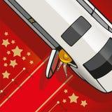 Limousine sur le tapis rouge Image libre de droits