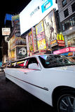 Limousine in Times Square Royalty Free Stock Images