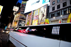 Limousine in Times Square Stock Image