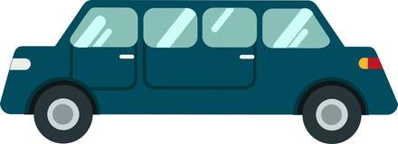 Limousine vectoron Witte Blackground stock illustratie