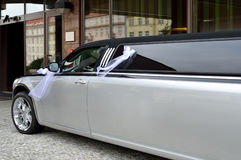 Limousine for wedding event Stock Photography