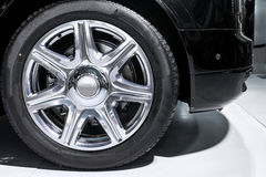 Limousine wheel Royalty Free Stock Photos