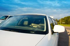 Limousine windshield Royalty Free Stock Images