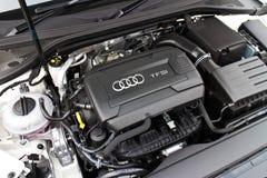 Limousinemaschine 2014 Audis A3 Stockbild