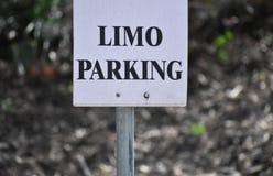 Limousinen-Parken Lizenzfreies Stockfoto