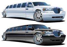 Limousines de dessin animé de vecteur Photographie stock libre de droits