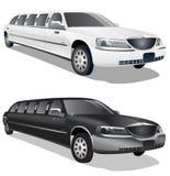 Limousines noires et blanches illustration stock