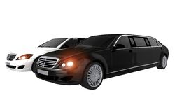 Limousines Rental Concept Stock Photography