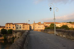 Limoux-Dorf, Frankreich lizenzfreies stockbild
