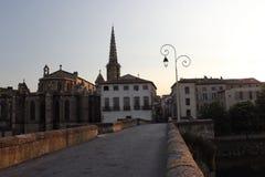 Limoux-Dorf, Frankreich stockbild