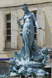 Limoux, (France), fountain with woman's statue Stock Photo