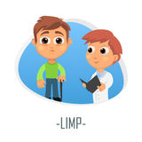 Limp medical concept. Vector illustration. Royalty Free Stock Photos
