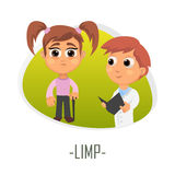Limp medical concept. Vector illustration. Royalty Free Stock Images