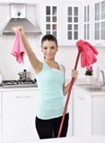 Limpando a casa imagens de stock royalty free