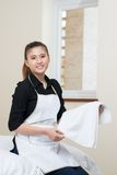 Limpando o apartamento Fotografia de Stock Royalty Free
