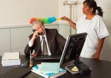 Limpando o gerente Fotografia de Stock Royalty Free