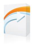 Limpe a caixa do software do estilo ilustração stock