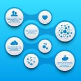 Limpe elementos de Infographic do círculo Fotos de Stock