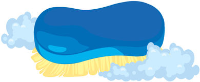 Limpe a escova ilustração stock