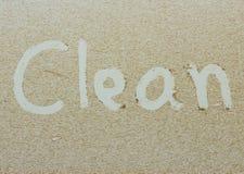 Limpe escrito no carro sujo Imagens de Stock Royalty Free