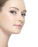 Limpe a face da mulher Fotografia de Stock