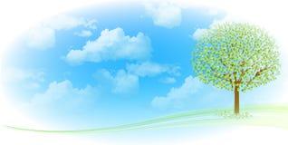 Limpe ilustrações verdes frescas do fundo Fotografia de Stock Royalty Free