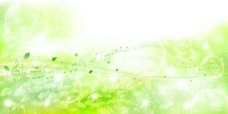 Limpe ilustrações verdes frescas do fundo Imagens de Stock