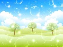 Limpe ilustrações verdes frescas do fundo Foto de Stock Royalty Free