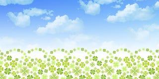 Limpe ilustrações verdes frescas do fundo Fotos de Stock