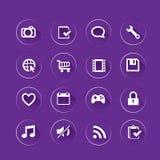 Limpe o ícone do app Imagens de Stock