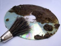 Limpe o disco foto de stock