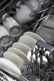 Limpe o Dishware foto de stock