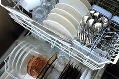 Limpe o Dishware foto de stock royalty free
