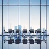 Limpe o escritório com a arquitetura da cidade Imagens de Stock
