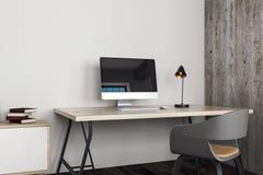 Limpe o escritório com o local de trabalho Foto de Stock Royalty Free