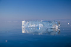 Limpe o gelo transparente Foto de Stock