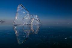 Limpe o gelo transparente Fotografia de Stock