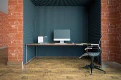 Limpe o interior com o local de trabalho Imagem de Stock Royalty Free