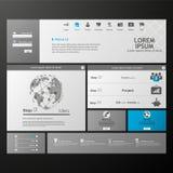Limpe o molde moderno do Web site Imagem de Stock Royalty Free