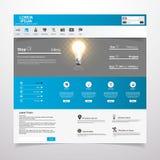 Limpe o molde moderno do Web site Imagem de Stock