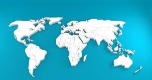 Limpe o mundo do mapa Fotografia de Stock Royalty Free